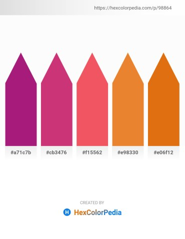 Palette image download - Medium Violet Red – Indian Red – Salmon – Chocolate – Chocolate