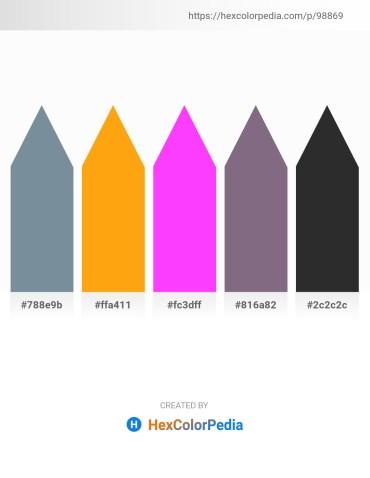 Palette image download - Light Slate Gray – Orange – Slate Gray – Slate Gray – Black