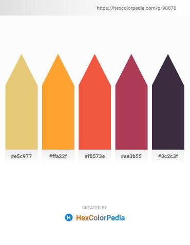 Palette image download - Burlywood – Coral – Tomato – Brown – Orange