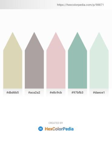 Palette image download - Tan – Dark Gray – Plum – Dark Sea Green – Powder Blue