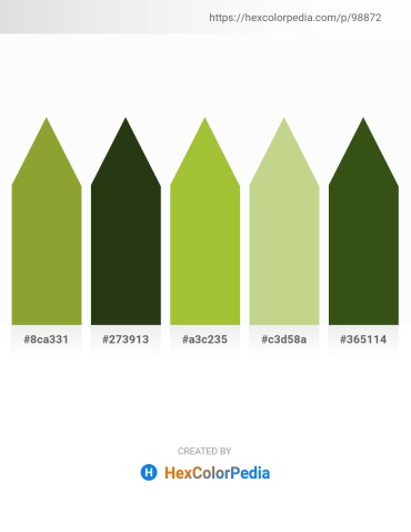 Palette image download - Olive Drab – Dark Olive Green – Yellow Green – Tan – Goldenrod