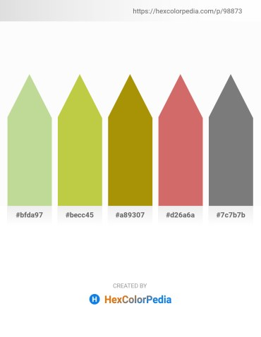 Palette image download - Light Steel Blue – Yellow Green – Dark Goldenrod – Indian Red – Gray
