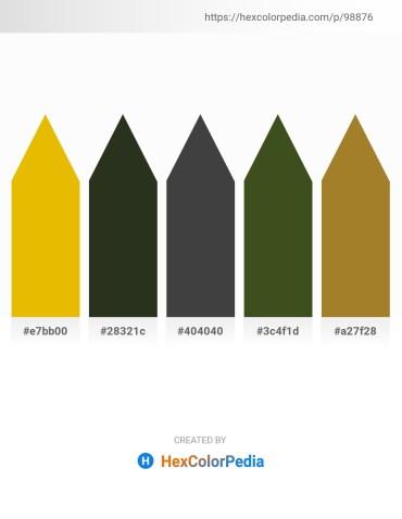 Palette image download - Orange – Blue Violet – Dim Gray – Dark Olive Green – Midnight Blue