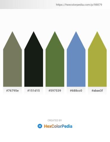 Palette image download - Dim Gray – Dark Slate Gray – Dark Olive Green – Steel Blue – Yellow Green
