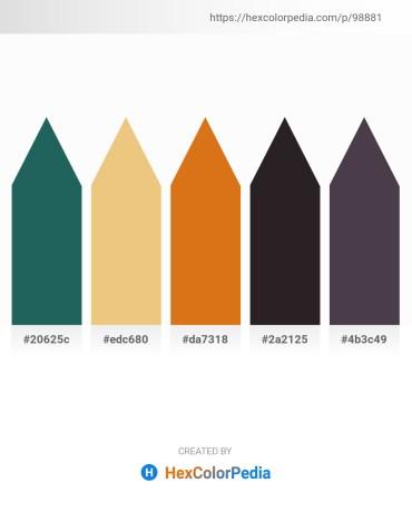 Palette image download - Royal Blue – Khaki – Chocolate – Black – Dim Gray
