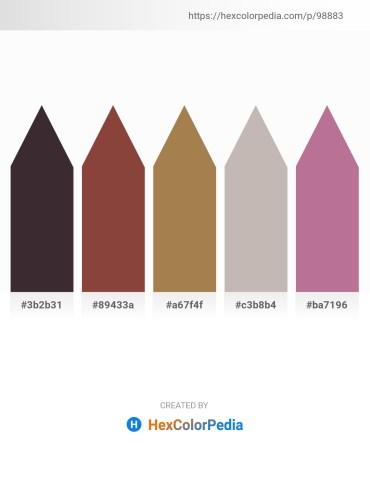 Palette image download - Black – Sienna – Beige – Silver – Rosy Brown