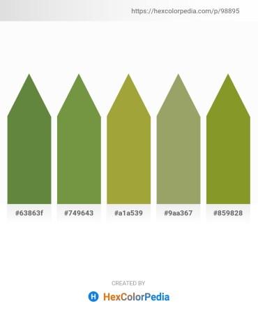 Palette image download - Dark Olive Green – Dark Olive Green – Yellow Green – Dark Khaki – Olive Drab