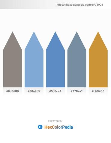 Palette image download - Gray – Light Steel Blue – Steel Blue – Light Slate Gray – Peru