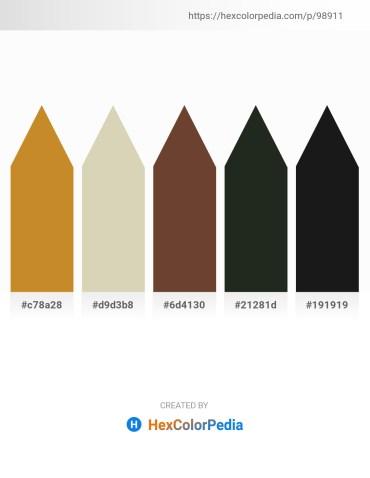 Palette image download - Peru – Tan – Dark Olive Green – Dark Slate Gray – Black