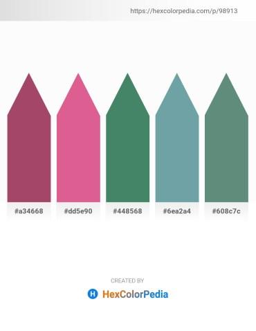 Palette image download - Indian Red – Pale Violet Red – Sea Green – Cadet Blue – Cadet Blue