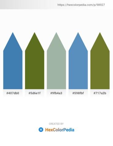 Palette image download - Steel Blue – Olive Drab – Dark Sea Green – Steel Blue – Dark Olive Green