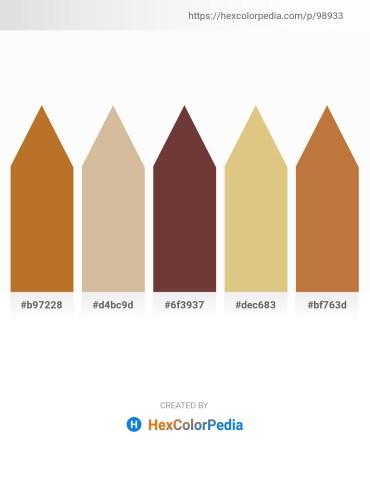 Palette image download - Chocolate – Tan – Dark Olive Green – Burlywood – Peru