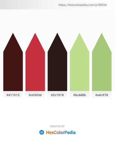 Palette image download - Midnight Blue – Brown – Black – Dark Olive Green – Dark Khaki