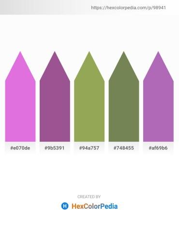 Palette image download - Orchid – Saddle Brown – Dark Khaki – Dark Olive Green – Medium Orchid