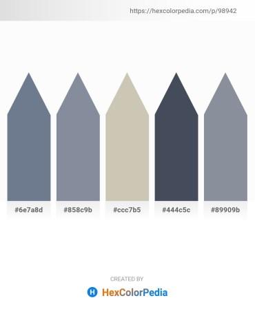 Palette image download - Slate Gray – Light Slate Gray – Silver – Dark Slate Gray – Light Slate Gray