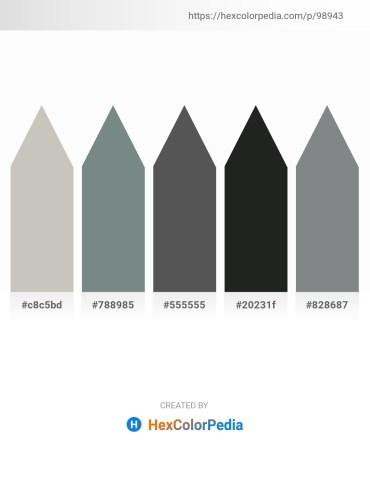 Palette image download - Silver – Slate Gray – Dim Gray – Dark Slate Gray – Slate Gray