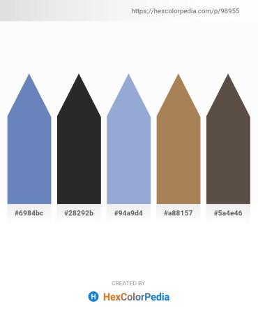 Palette image download - Steel Blue – Dark Slate Gray – Light Steel Blue – Cadet Blue – Dim Gray