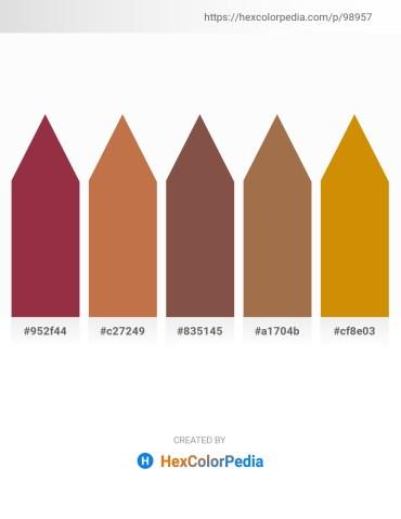 Palette image download - Brown – Peru – Sienna – Sienna – Dark Goldenrod