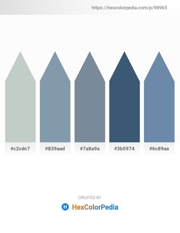 Palette image download - Dark Sea Green – Light Slate Gray – Light Slate Gray – Dark Slate Blue – Cadet Blue