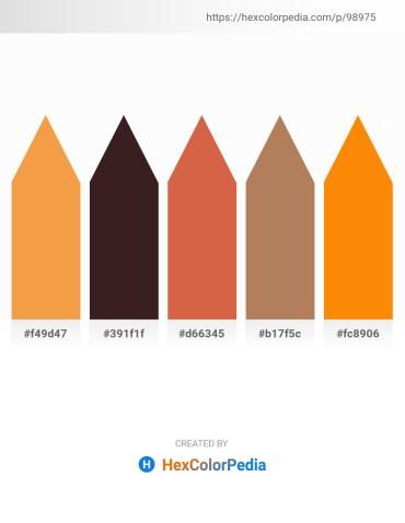 Palette image download - Sandy Brown – Slate Gray – Peru – Dark Sea Green – Dark Orange