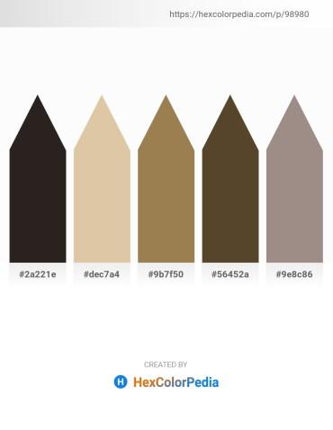 Palette image download - Black – Tan – Dark Khaki – Peru – Gray