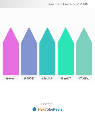 Palette image download - Violet – Medium Purple – Medium Turquoise – Turquoise – Medium Aquamarine