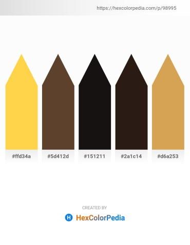 Palette image download - Gold – Saddle Brown – Black – Steel Blue – Peru