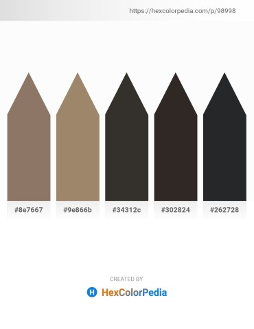Palette image download - Gray – Rosy Brown – Black – Black – Dark Slate Gray