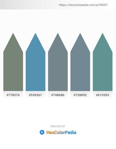 Palette image download - Slate Gray – Steel Blue – Slate Gray – Slate Gray – Cadet Blue