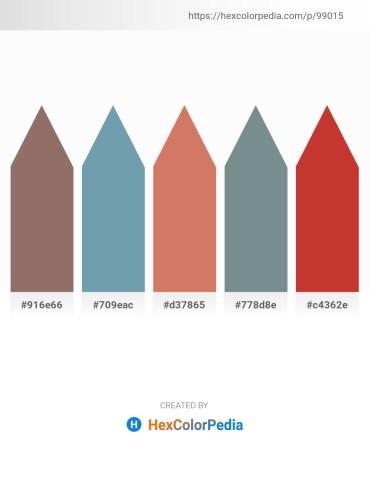 Palette image download - Gray – Cadet Blue – Indian Red – Slate Gray – Firebrick