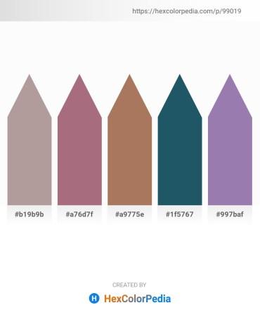 Palette image download - Dark Gray – Rosy Brown – Rosy Brown – Slate Gray – Light Slate Gray