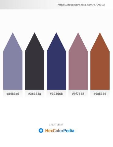 Palette image download - Light Slate Gray – Dark Slate Gray – Dark Slate Blue – Rosy Brown – Sienna