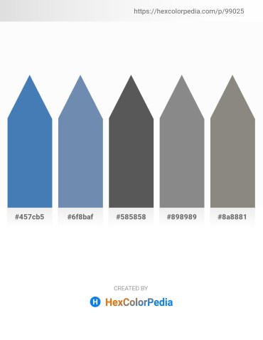 Palette image download - Steel Blue – Cadet Blue – Dim Gray – Gray – Gray