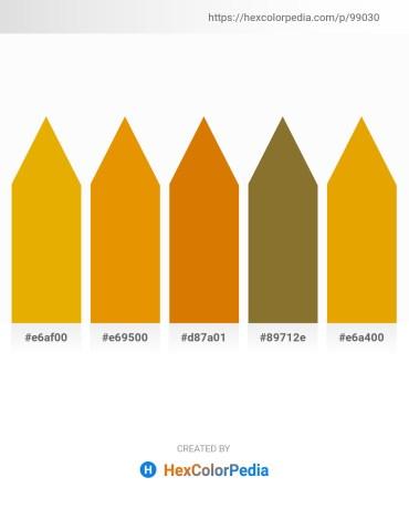 Palette image download - Orange – Dark Orange – Dark Orange – Hot Pink – Orange