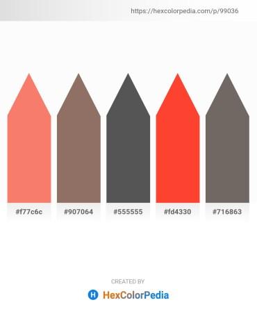 Palette image download - Salmon – Gray – Dim Gray – Tomato – Dim Gray