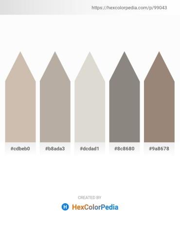 Palette image download - Rosy Brown – Dark Gray – Light Gray – Gray – Gray