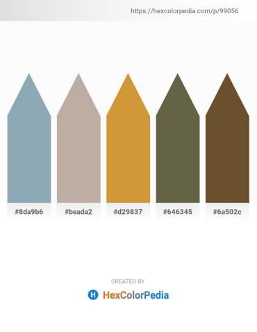 Palette image download - Light Slate Gray – Rosy Brown – Peru – Dark Olive Green – Papaya Whip