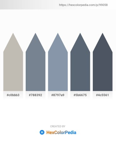 Palette image download - Silver – Slate Gray – Light Slate Gray – Slate Gray – Dark Slate Gray