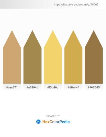 Palette image download - Tan – Dark Khaki – Khaki – Peru – Sienna