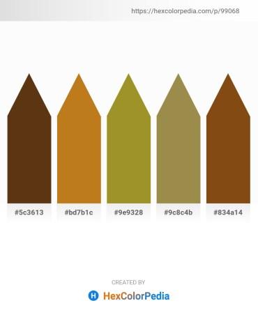 Palette image download - Saddle Brown – Chocolate – Olive Drab – Dark Khaki – Saddle Brown
