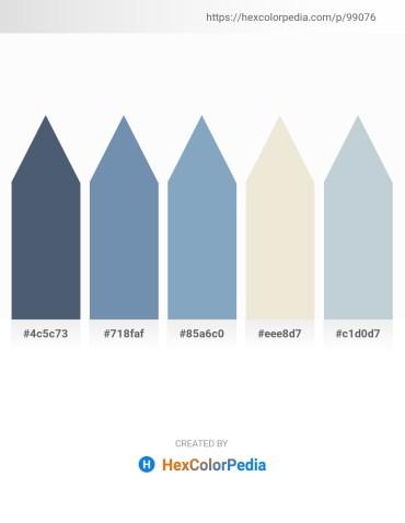 Palette image download - Dark Slate Gray – Cadet Blue – Cadet Blue – Beige – Light Steel Blue