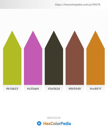 Palette image download - Yellow Green – Orchid – Gray – Sienna – Chocolate
