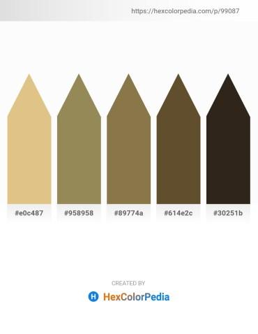 Palette image download - Burlywood – Dark Khaki – Dark Olive Green – Dark Olive Green – Indian Red