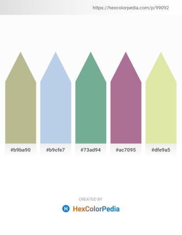 Palette image download - Dark Khaki – Light Blue – Cadet Blue – Rosy Brown – Pale Goldenrod