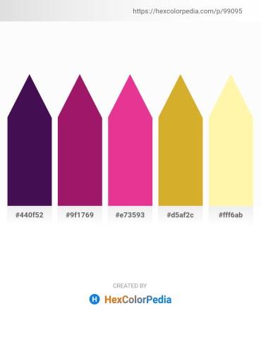 Palette image download - Midnight Blue – Medium Violet Red – Medium Violet Red – Goldenrod – Moccasin