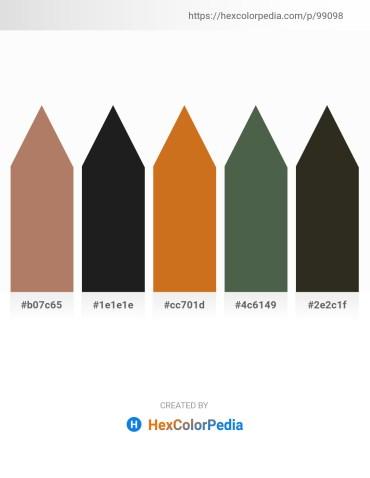 Palette image download - Rosy Brown – Black – Chocolate – Dark Slate Gray – Gray