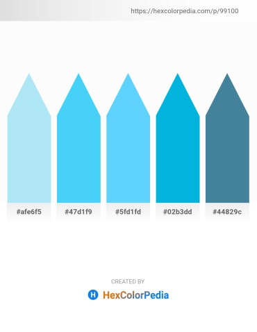 Palette image download - Pale Turquoise – Light Sky Blue – Light Sky Blue – Dark Turquoise – Steel Blue