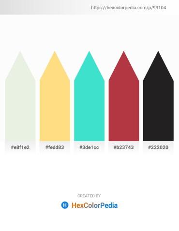 Palette image download - Beige – Navajo White – Turquoise – Brown – Black