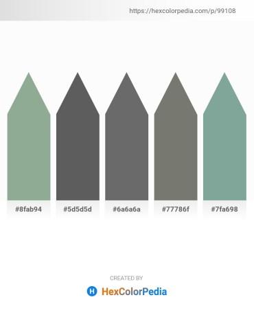 Palette image download - Dark Sea Green – Dim Gray – Dim Gray – Dim Gray – Cadet Blue