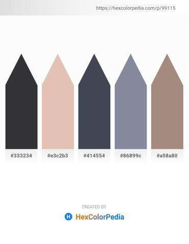 Palette image download - Dark Slate Gray – Tan – Dark Slate Gray – Light Slate Gray – Rosy Brown